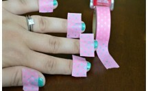 Washi Tape Manicure #washi #washitape