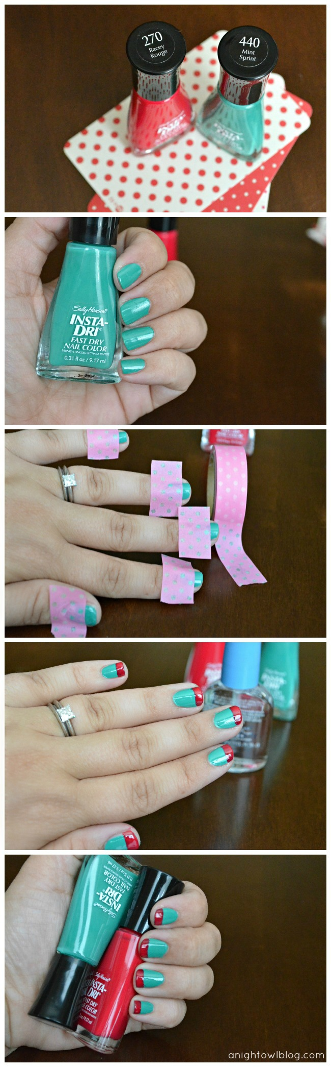 Washi Tape Manicure; for more inspiration and washi projects visit thewashiblog.com | #washi #washitape