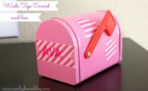 Washi Tape Decorated Mailboxes #washi #washitape