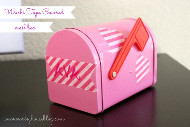 Washi Tape Decorated Mailboxes; for more inspiration and washi projects visit thewashiblog.com | #washi #washitape