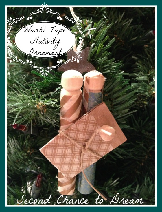 Washi Tape Nativity Ornament; for more inspiration and washi projects visit thewashiblog.com | #washi #washitape