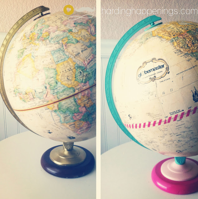 Washi Tape Globe Upcycle; for more inspiration and washi projects visit thewashiblog.com | #washi #washitape