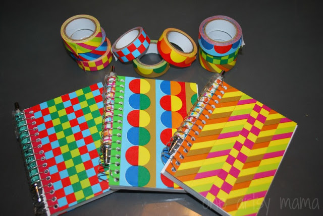 Washi Tape Notebooks; for more inspiration and washi projects visit thewashiblog.com | #washi #washitape