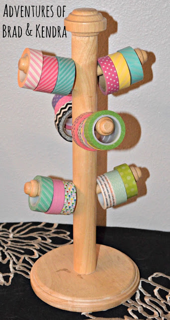 Mug Rack Turned Washi Tape Holder #washi #washitape #organization