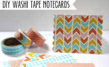 Washi Tape Notecards #washi #washitape