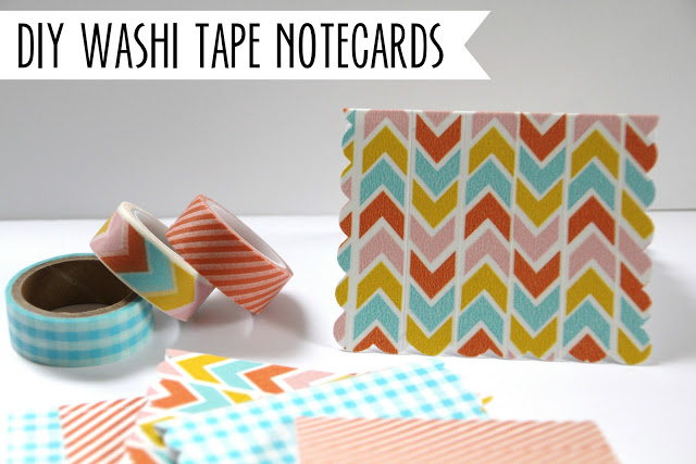 Washi Tape Notecards; for more inspiration and washi projects visit thewashiblog.com | #washi #washitape