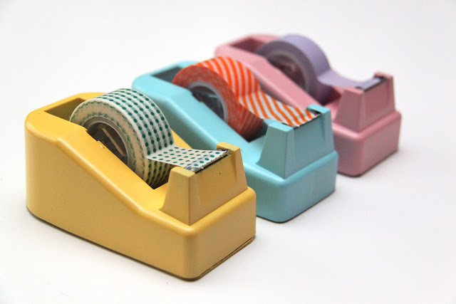 Washi Tape Dispenser Makeover; for more washi inspiration and projects visit thewashiblog.com | #washi #washitape