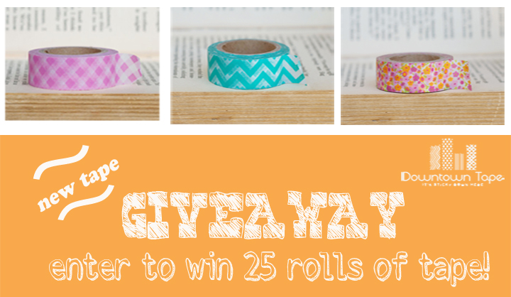 Enter to win 25 rolls of washi tape! Find out how at thewashiblog.com