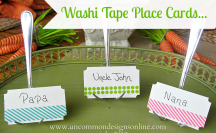 Washi Tape Place Cards #washi #washitape