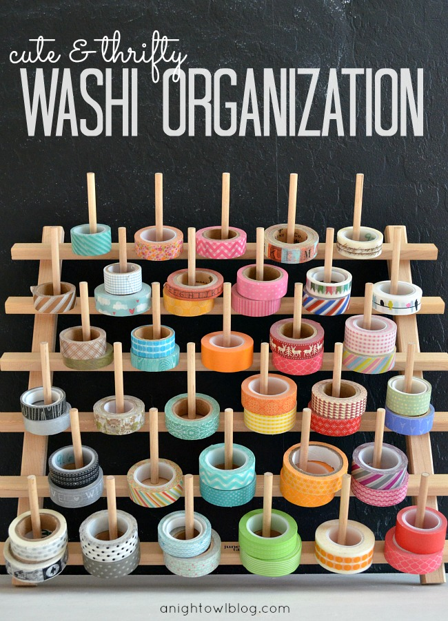 Washi Tape Organization; for more washi inspiration and projects visit thewashiblog.com | #washi #washitape