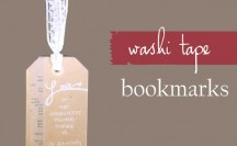 Washi Tape Bookmark - thewashiblog.com