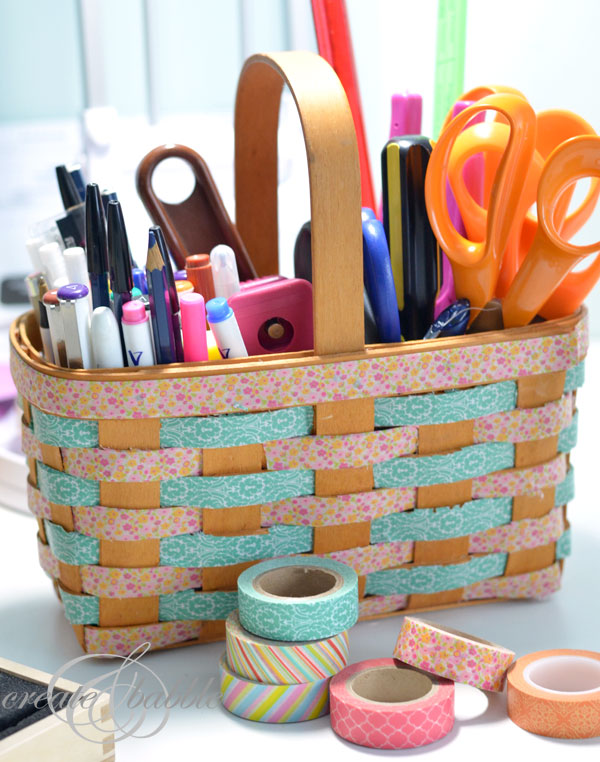 Washi Tape Basket; for more inspiration and washi projects visit thewashiblog.com | #washi #washitape
