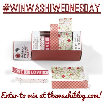 Win Martha Stewart Crafts Hearts and Flowers Paper Tape at thewashiblog.com