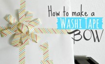 Washi Tape Bow; for more washi inspiration and projects visit thewashiblog.com | #washi #washitape