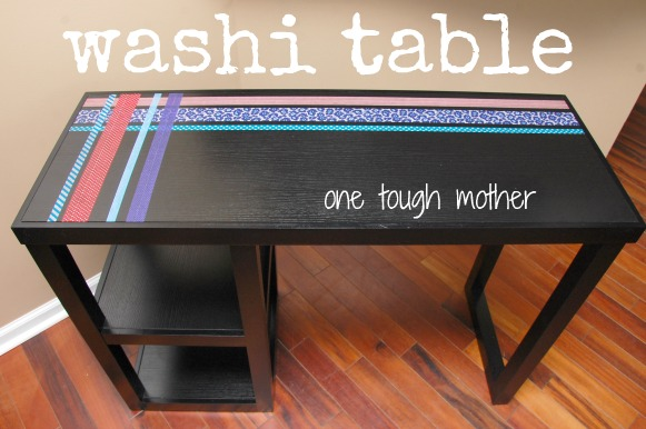 Washi Tape Table; for more inspiration and washi projects visit thewashiblog.com | #washi #washitape