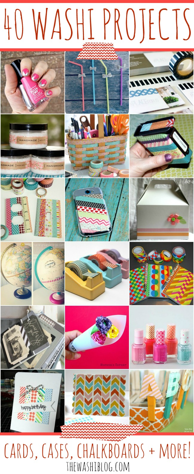 40 Washi Tape Projects – Cards, Cases, Chalkboards and More!