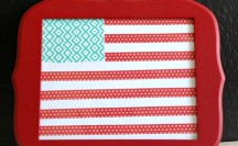 Washi Tape Flag; for more washi projects and inspiration visit thewashiblog.com | #washi #washitape #patriotic #4thofjuly