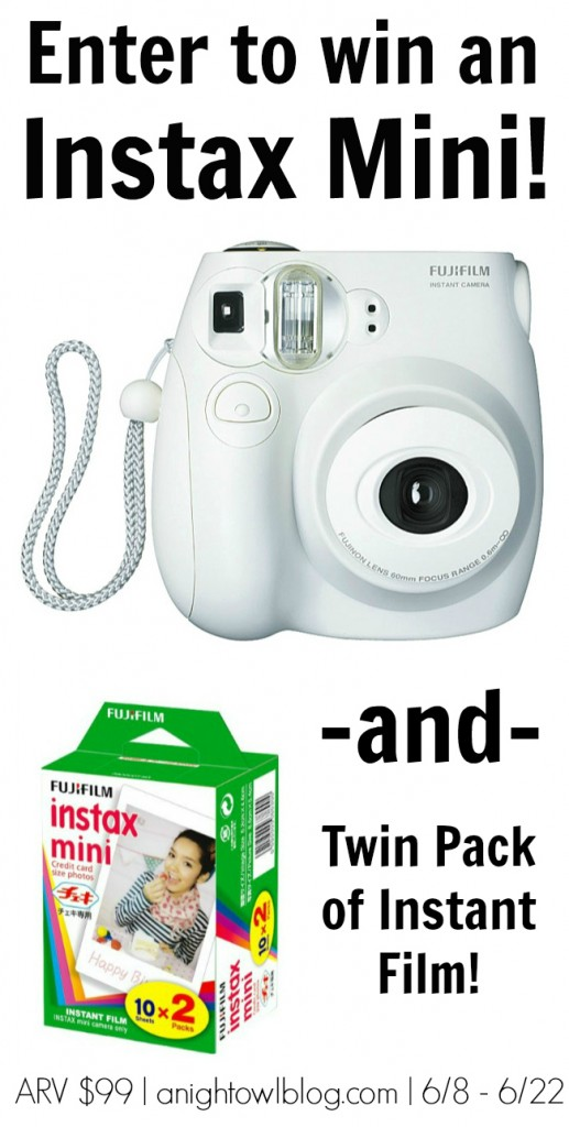 Win an Instax Mini Instant Camera and Film at thewashiblog.com!