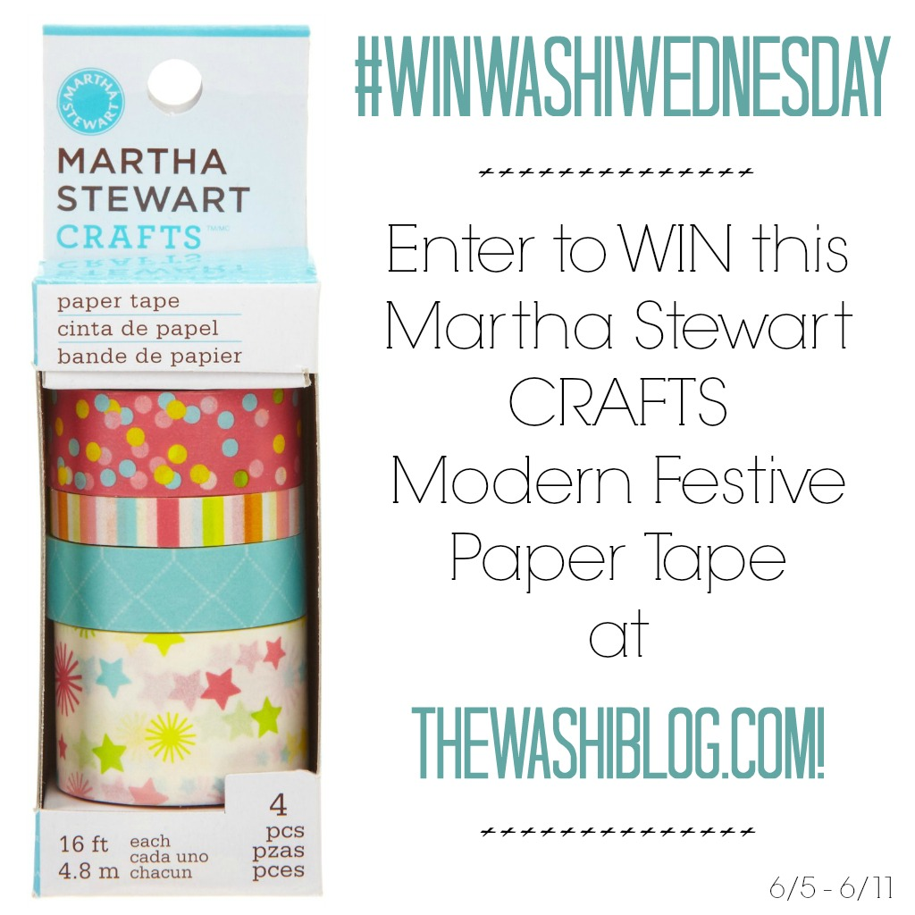 #WinWashiWednesday - Martha Stewart Crafts Modern Festive Tape