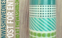 #WinWashiWednesday - Target Blue and Green Washi Tape