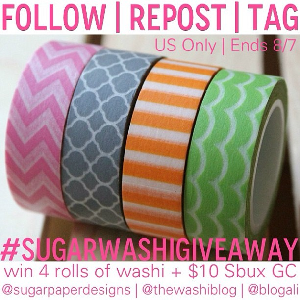 Instagram-ONLY Washi Tape Giveaway | thewashiblog.com