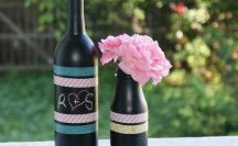 Washi Tape Chalkboard Vase; for more washi projects and inspiration visit thewashiblog.com | #washi #washitape #chalkboard