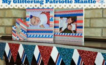 Patriotic Washi Tape Picture Frames; for more washi projects and inspiration visit thewashiblog.com | #washi #washitape #patriotic #4thofjuly