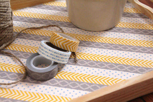 Washi Tape Serving Tray; for more washi projects and inspiration visit thewashiblog.com | #washi #washitape