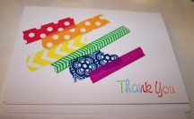 Washi Tape Thank You Cards; for more washi projects and inspiration visit thewashiblog.com | #washi #washitape