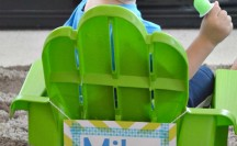 Monsters University Director Chairs with Washi Tape Signs; for more washi projects and inspiration visit thewashiblog.com | #washi #washitape #MonstersU