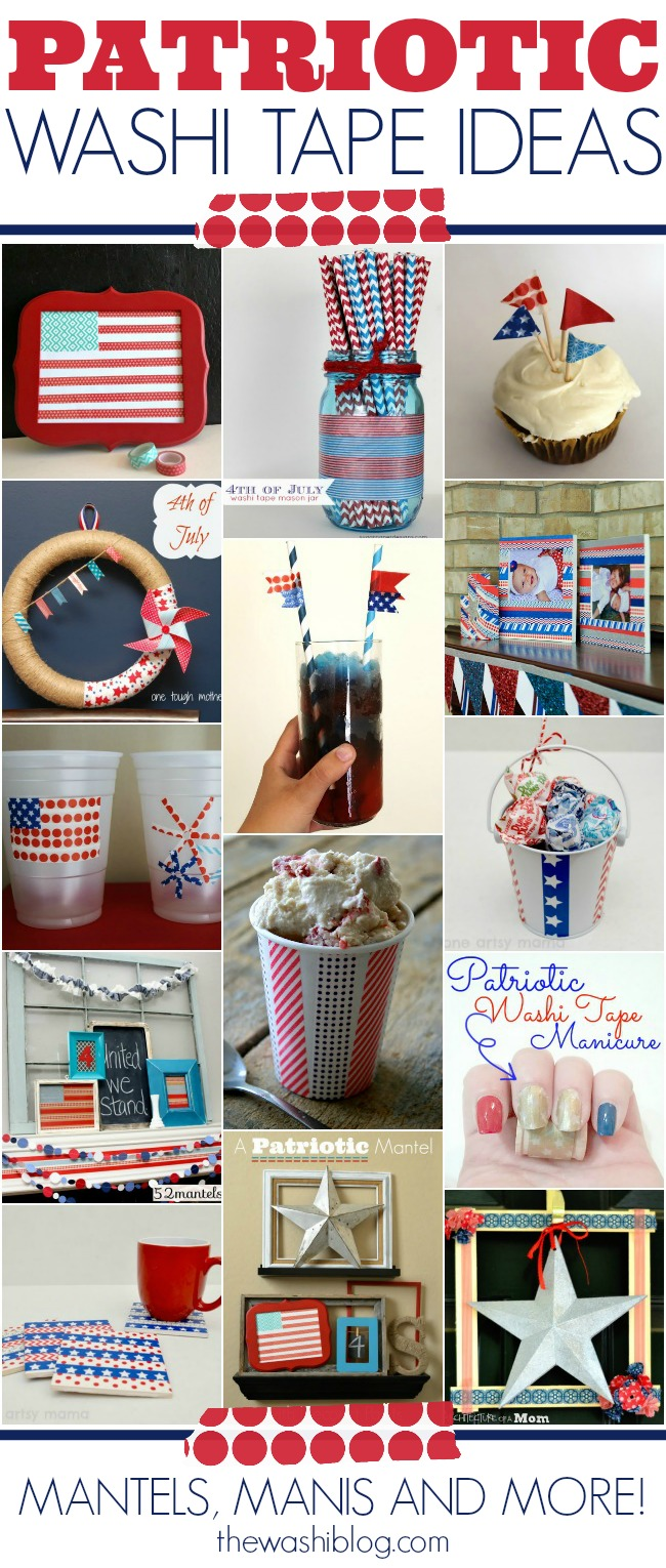 Patriotic Washi Tape Ideas; for more washi projects and inspiration visit thewashiblog.com | #washi #washitape #patriotic #4thofjuly