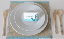 Summer Washi Tape Place Setting; for more washi projects and inspiration visit thewashiblog.com | #washi #washitape
