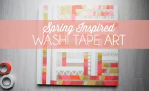 DIY Washi Tape Art; for more washi projects and inspiration visit thewashiblog.com | #washi #washitape #art