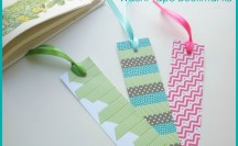 Washi Tape Bookmarks | For more washi projects and inspiration visit thewashiblog.com | #washi #washitape #bookmarks