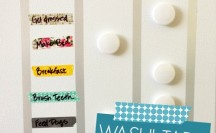 Washi Tape Chore Chart for Kids; for more washi projects and inspiration visit thewashiblog.com | #washi #washitape #chorechart