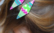 Washi Tape Barrettes | For more washi projects and inspiration visit thewashiblog.com | #washi #washitape