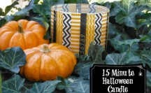 Washi Tape Halloween Candle | For more washi projects and inspiration visit thewashiblog.com | #washi #washitape #halloween