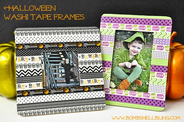 Halloween Washi Tape Frames | For more washi projects and inspiration visit thewashiblog.com | #washi #washitape #halloween