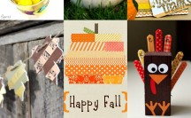 Fall and Thanksgiving Washi Tape Ideas | For more washi projects and inspiration visit thewashiblog.com | #washi #washitape #thanksgiving