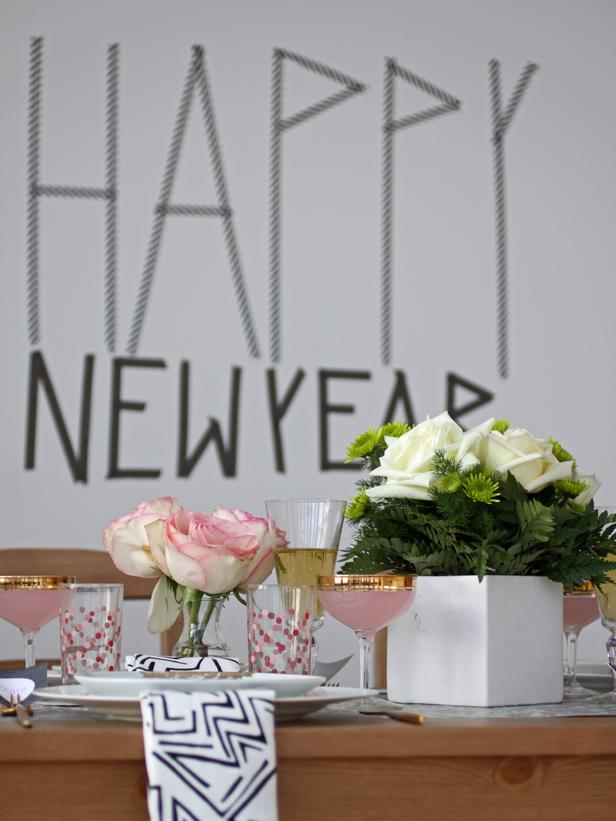 New Years Brunch Washi Sign