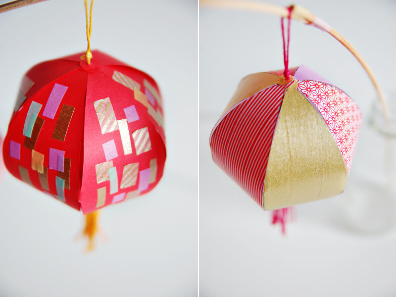Chinese New Year Lanterns with Washi Tape