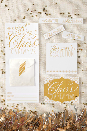 New Years Washi Invitation