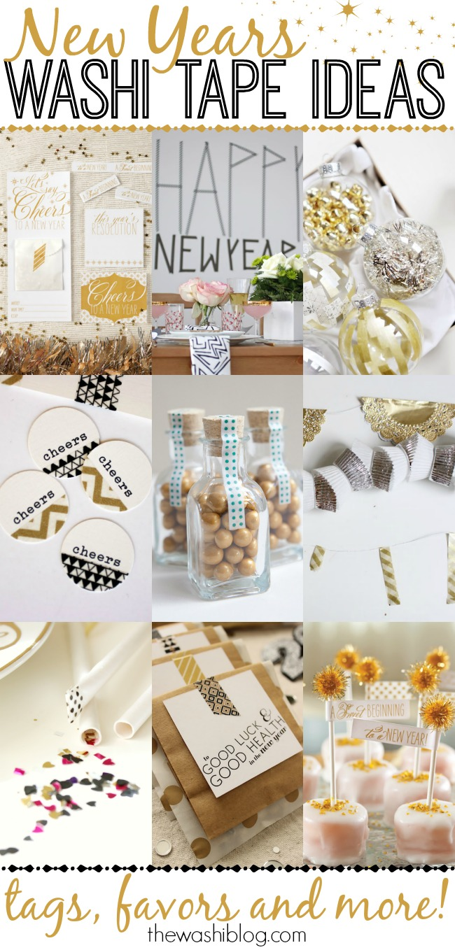 New Years Washi Tape Ideas - perfect last-minute crafts and decor!