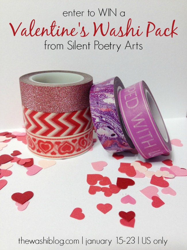 Enter to WIN a Valentine's Washi Pack from Silent Poetry Arts on Etsy!