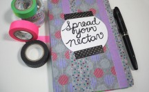 Washi Tape Notebook | For more washi projects and inspiration visit thewashiblog.com | #washi #washitape