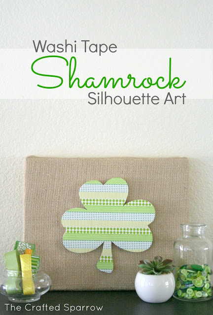 Washi Tape Shamrock | For more washi projects and inspiration visit thewashiblog.com | #washi #washitape #stpatricks
