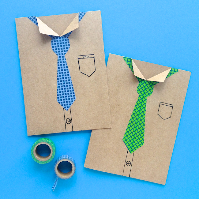 Adorable Father's Day Washi Tape Card