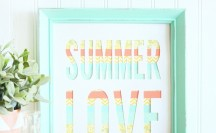 Summer Washi Tape Art | For more washi tape crafts and inspiration visit thewashiblog.com | #washi #washitape