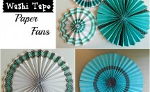 Washi Tape Paper Fans | For more washi tape ideas and inspiration visit thewashiblog.com | #washi #washitape