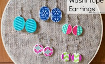 Washi Tape Earrings | For more washi tape ideas and inspiration visit thewashiblog.com | #washi #washitape